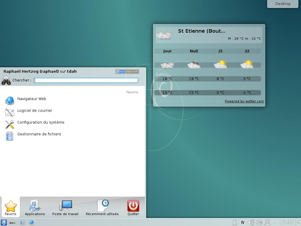 Le bureau KDE